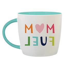 "Coffee Mug for Mom - 14 oz Coffee Mug with Message ""Mom Fuel"