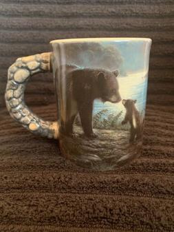 Coffee Mug Bear Family Wildlife 3D Design Drink ware Rivers