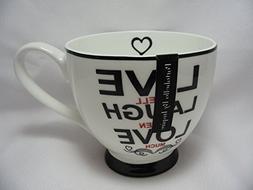 Portobello By Inspire Coffee Mug Bone China Live Laugh Love