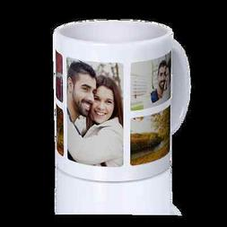 White Coffee Mug Collage Custom Cup Personalized Gift Cerami