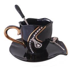 Coffee Mug Creative Gift Tea Cups Ceramic Mugs With Rhinesto