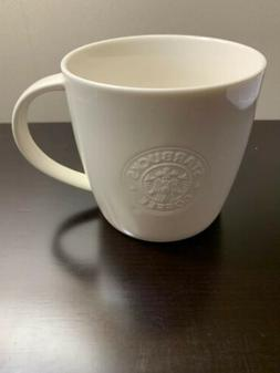Starbucks Coffee Mug Cup 2009 16 oz 532ml White Embossed New