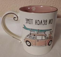 "Coffee Mug SPECTRUM DESIGNZ ""ON THE BEACH"" CAT DOG IN VW SUR"