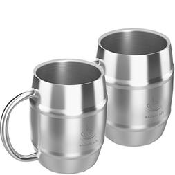 Coffee Mug Double Wall Stainless Steel Insulated Coffee & Be