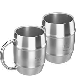 Coffee Mug Double Wall Stainless Steel Insulated Coffee & Be