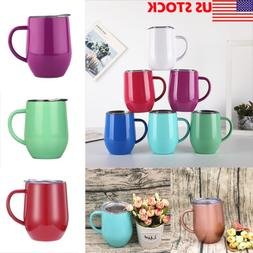 Coffee Mug Double Wall Stainless Steel Cup Travel Tea Insula