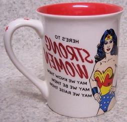 Coffee Mug Entertainment Wonder Woman Strong Women NEW 16 ou