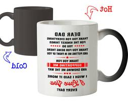 Coffee Mug Gift for Dad Thank you for Everything Father Coff