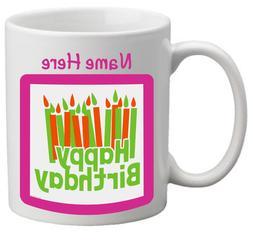 Coffee Mug Happy Birthday Personalized White Gift Women Men