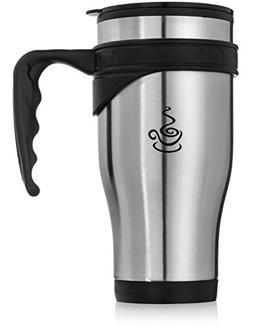 Coffee Mug - 14oz Insulated Set of 2, Shatterproof, Healthy