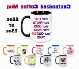 Coffee Mug Personalized Custom Photo Text Logo Name Printed