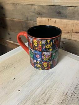 Coffee Mug - Red Ceramic Marvel / Iron Man/Hulk/Spiderman/Ca