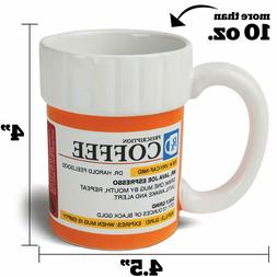Novelty Prescription Mug Bottle Pill Coffee Tea Cup Pharmacy