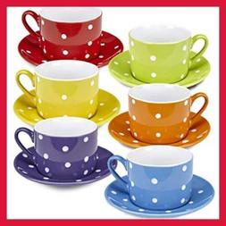Klikel Tea Cups And Saucers Set | 12 Piece Porcelain Dinnerw
