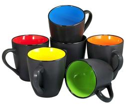 Coffee Mug Set Set of 6 Large-sized 16 Ounce Ceramic Coffee