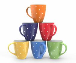 coffee mug set of 6 large sized