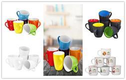 Bruntmor Coffee Mug Set Set of 6 Large-sized 16 Ounce Cerami
