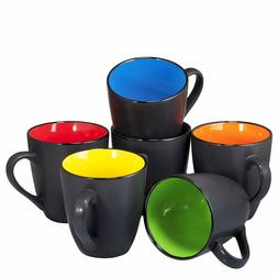 Coffee Mug Set Set of 6 Large-sized 16 Ounce Ceramic Coffee