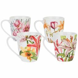 Coffee Mug, Tea Mugs Set, New Bone China Floral Design, Set