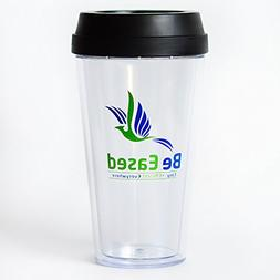 BeEased COFFEE MUG Transparent DOUBLE WALL TUMBLER, Insulate