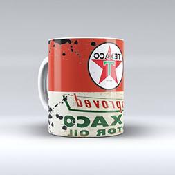 Coffee Mug 11 Oz Vintage Texaco Motor Oil Can Garage Collect
