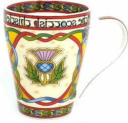 Coffee or Tea Mug Thistle Celtic Bone china mug 13 fl. oz Sc