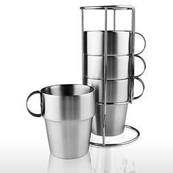 Coffee/Tea/Beer Cup Mug Set Stainless Steel Insulated Cups &