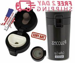Coffee Travel Mug Hot Cold Drink Double Insulate Tea Cup The