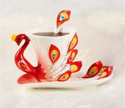Collectable Fine Arts China Porcelain Tea Cup and Saucer Cof