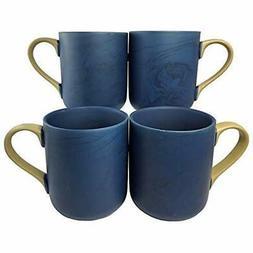 Colored Cups Mugs & Saucers Marble Coffee Set 4  15oz Cerami