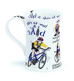 Comical 'How To Ride A Bike' Dunoon Fine Bone China Mug Cots