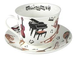 Roy Kirkham Concert Instrument Breakfast Teacup and Saucer S