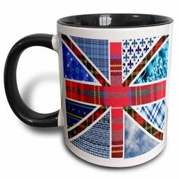 3dRose Contemporary Trendy Patterned Union Jack English Flag