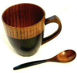 Cool Coffee Mug and Spoon, Handmade Wood Coffee