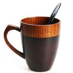 Cool Coffee Mug, Handmade Wood Coffee/Tea Cup 11 OZ with Spo