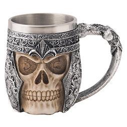 CHICVITA Viking Stainless Steel Skull Coffee Mug Viking Skul