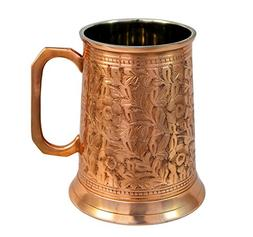 Copper German Beer Stein - Handcrafted Copper Antique Large