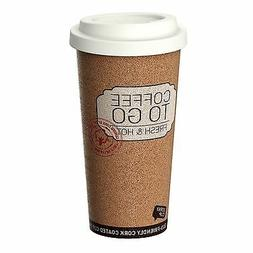 CORKY CUP by LIFE STORY Reusable 16 oz Insulated Travel Cork