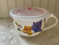 Ciroa Covered Oversized Owl Mug Bowl Soup Coffee Cereal Ice