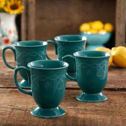 The Pioneer Woman Cowgirl Lace 4 Piece Tea Cup Hot Chocolate