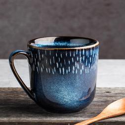 Creative Blue Pottery <font><b>Ceramic</b></font> Coffee <fo