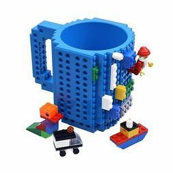 KYONNE Build-on Brick Mug, Building Blocks Coffee Cup, Uniqu