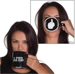 Creative Have A Nice Day Coffee Mug Middle Finger Funny Cup