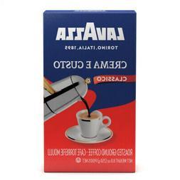 Lavazza Crema e Gusto Ground Coffee, Italian Espresso, 8.8-O