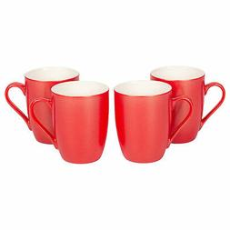 Crimson Red Glossy Finish 10 Oz. New Bone China Coffee Cup M