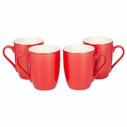 Crimson Red Glossy Finish 10 Oz. New Bone China Coffee Cup M