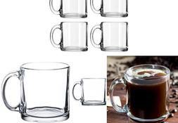 Libbey Crystal Coffee Mug Warm Beverage Mugs Set of 4