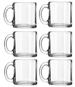 Libbey Crystal Coffee Mug Warm Beverage Mugs Set of