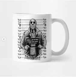 Crystal Lake Police Dept Jason Voorhees Halloween Coffee Mug