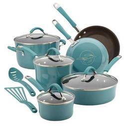 Cucina 12-Piece Cookware Set, Agave Blue
